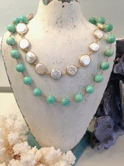 Amazonite Pearl Necklace