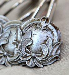 Vintage Crest Silver Shower Hooks Set of 12