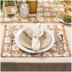 Natura Set of 4 Jute Placemats with Frayed Edge