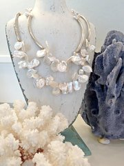 Keshi Pearl Layered Necklace