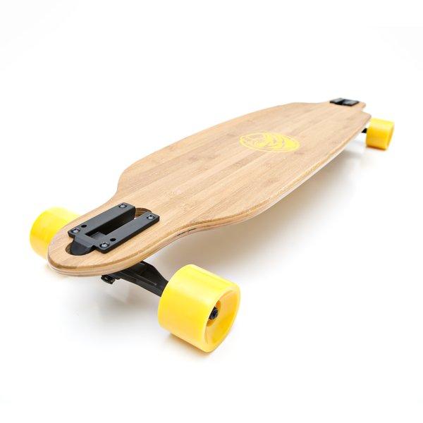 White Wave Bandit Longboard Skateboard Cruiser