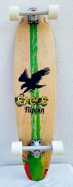 Flippin Board Co Eagle Kicktail Longboard Skateboard Cruiser Freeride
