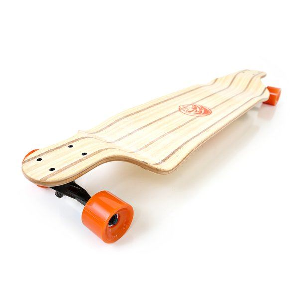 White Wave Cobra Drop Down Deck Longboard Skateboard Complete