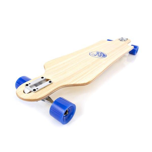 White Wave Drifter Longboard Skateboard Complete Campus Cruiser