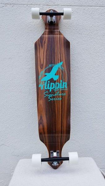 Flippin Board Co Drop Down Signature Series Longboard Skateboard Complete