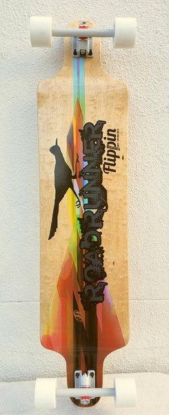 flippin board co roadrunner downhill longboard skateboard complete