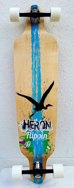 Flippin Board Co Heron Drop Down Through Longboard Complete