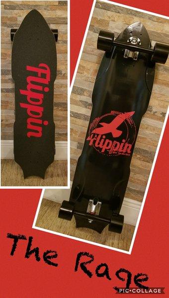 Flippin Board Co The Rage Downhill Longboard Skateboard