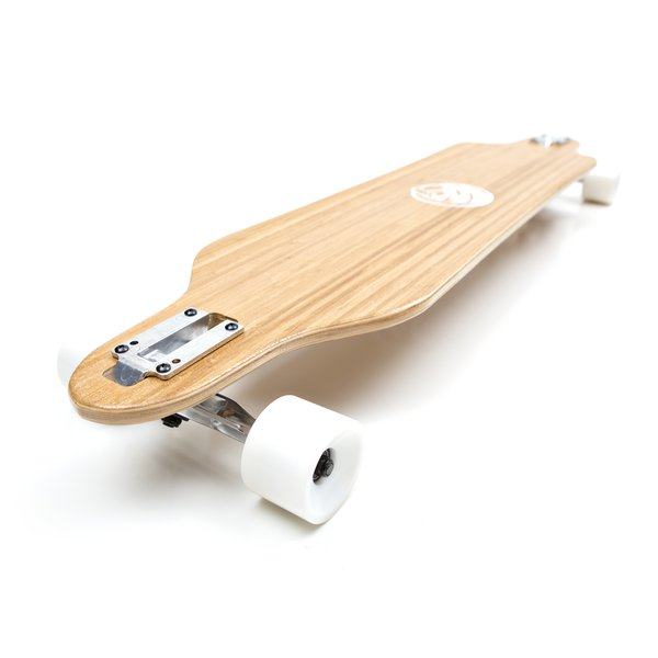 White Wave Cruiser Longboard Skateboard Complete