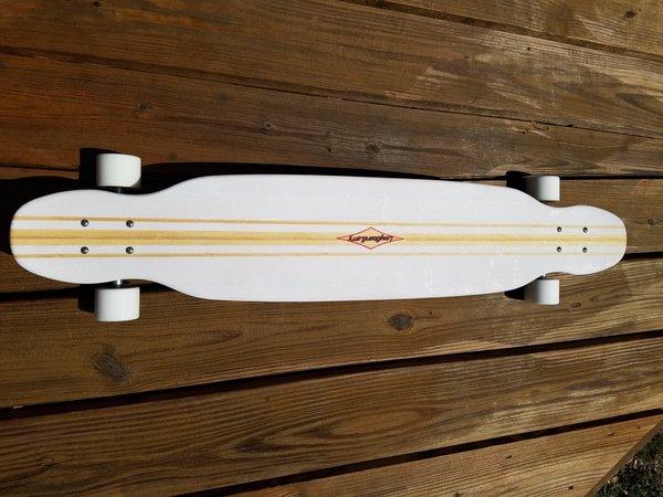 Limited Edition White Longboard Larry komodo Twin Tip Dancer