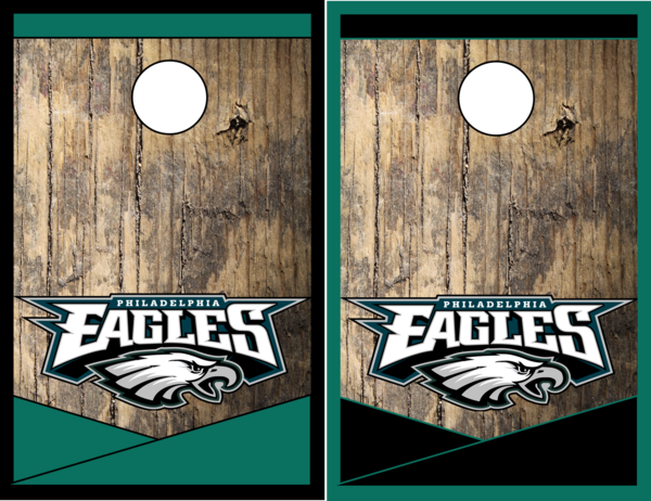 Philadelphia Eagles Cornhole Board Game   The Cornhole Xpress Custom ...