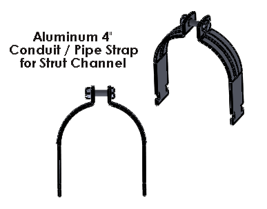 4 Inch Aluminum Strut Strap