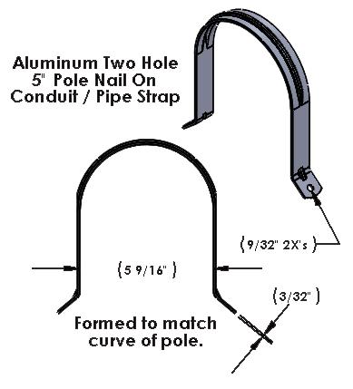 Pole Nail On Aluminum Strap 5 Inch