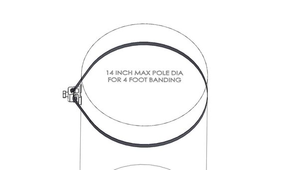 """4 foot length of 1/2"""" Stainless Steel Banding"""
