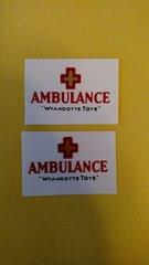 WYDE15 Wyandotte Ambulance Decal