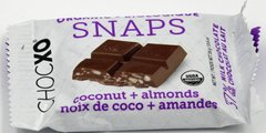 "ChocXO Organic Snaps  Milk Chocolate ""Coconut + Almonds"" 16 Gram"