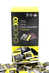 """ChocXO Dark Chocolate -w/Espresso""""Organic"""" Tasting Squares 150 Piece"""