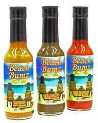 Beach Bumz Pepper Sauce Sampler (1 each Mango, Jalapeno, & Red Savina)