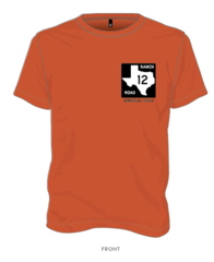Ranch Road 12 T-shirt Burnt Orange
