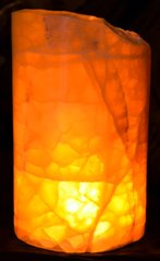 "Honeycomb Calcite Luminary 3.75 x5-6""h"