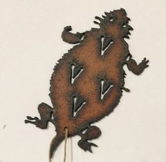 Rusty Horned Toad ornament