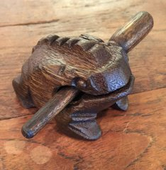 Small Dark Wooden Croaking Toad