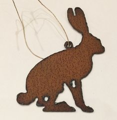 Rusty Rabbit Ornament
