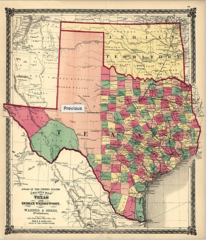 Texas and Indian Territory 1875