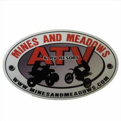 Mines & Meadows Large Car Decal