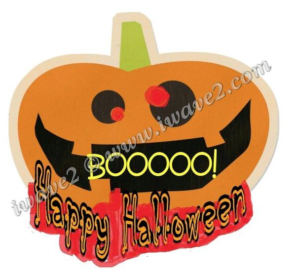 Waving Sign: Happy Halloween Pumpkin | iWave2 Waving Signs, Custom ...