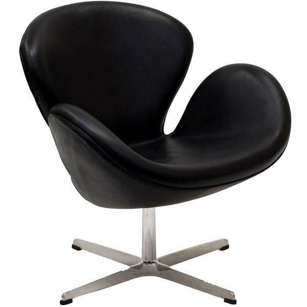 arne jacobsen swan chair jeannie black leather take 1 designs