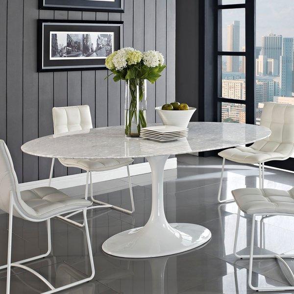 Saarinen Tulip Oval Real Marble Dining Table 78 Take 1 Designs